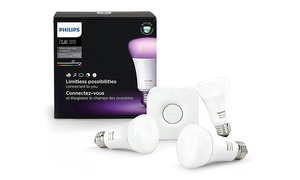 Philips Hue A19 LED Smart Bulb Starter Kit (7-Piece) (Refurbished)
