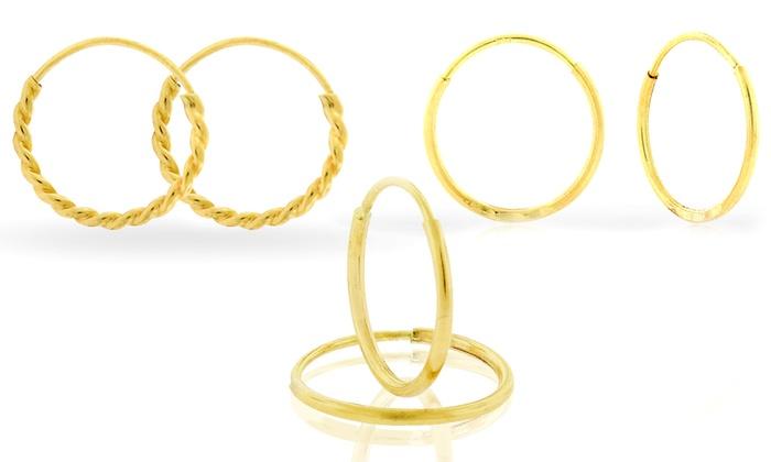 Kids 14k Solid Gold Endless Hoop Earrings