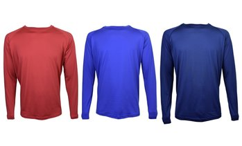 Victory Men's Long-Sleeve Crewneck Performance Tee (3-Pack)