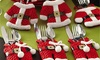 Santa Christmas Cutlery Holders