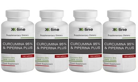 Fino 720 compresse Curcumina 95% e Piperina Plus K-line