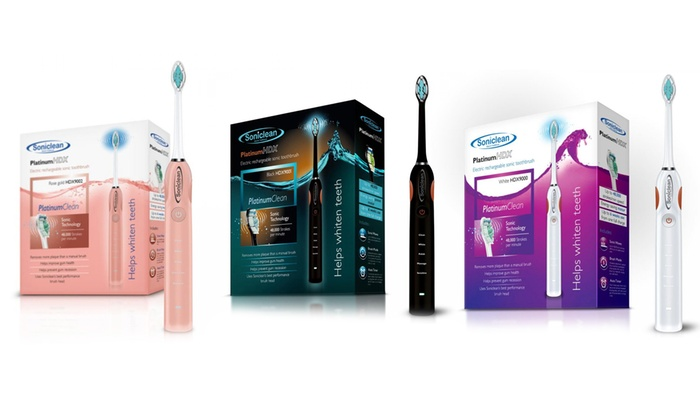 Soniclean PlatinumHDX Sonic Technology Electric Toothbrush for £29.99