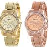 Geneva Women's Chronograph Diamond Watch