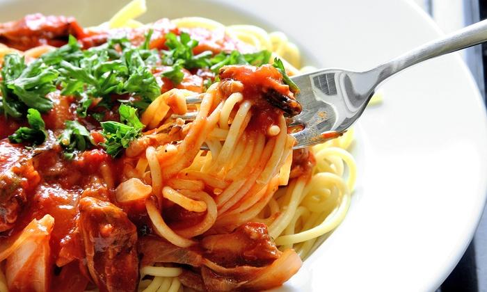 Yarusso's Italian Restaurant - Payne - Phalen: $19 for Pasta and Wine for Two at Yarusso's Italian Restaurant (Up to $37.18 Value)