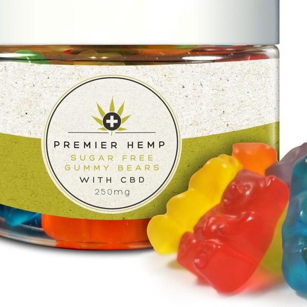 Sugar-Free CBD Gummy Bears from Premier Hemp (250mg, 750mg, 1500mg, 3000mg)