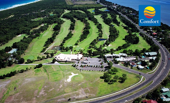 Wollongong: 1 or 2 Nights in a Queen Room with Breakfast and Golf for Two People at Comfort Inn Fairways - Port Kembla