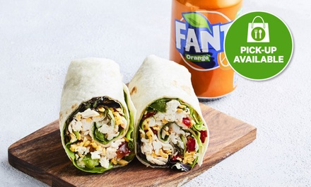 Chicken Wrap and Drink for One $9.90 or Two People $19.80 at Ciao Cafe and Cakes, Mort street Braddon Up to $30