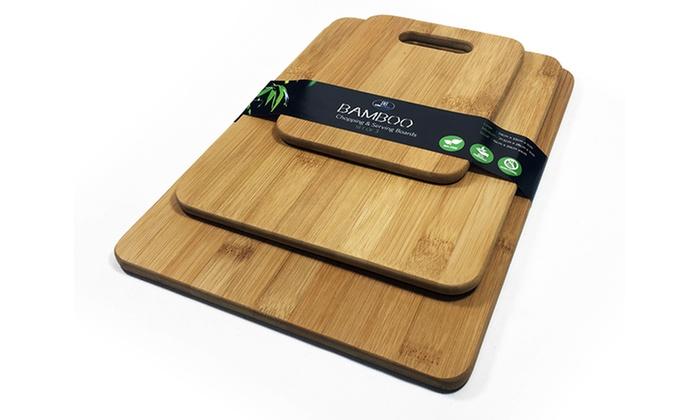 3 Piece Bamboo Cutting Board Set Groupon