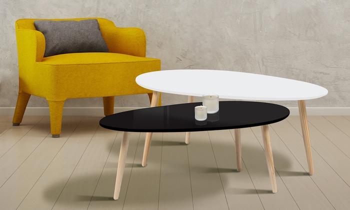 lot de tables gigognes scandinaves groupon. Black Bedroom Furniture Sets. Home Design Ideas