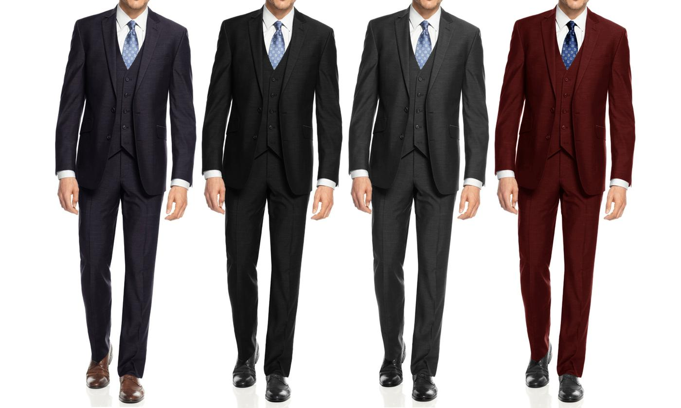 3-Pc Braveman Men's Slim-Fit Suits