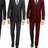 Braveman Men's Slim-Fit Suits (3-Piece)