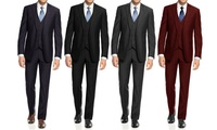 Braveman Mens Slim-Fit Suits 3-Piece