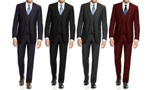 Braveman Men's Slim-Fit Suits (3-Piece)