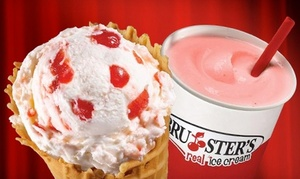 Bruster's Real Ice Cream: Two or Three Groupons, Each Good for $10 Worth of Frozen Treats at Bruster's Real Ice Cream (Up to 40% Off)