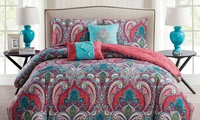 Deals on Casa Real Collection: Reversible Printed Duvet Cover Set Twin