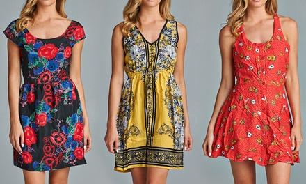 Junior Print Dresses