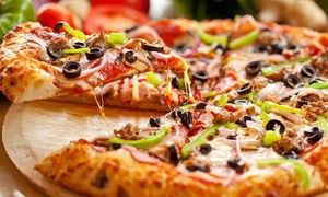 Pizza Pop: Pizza and a Glass of Wine for Two or Four at Pizza Pop (Up to 55% Off)