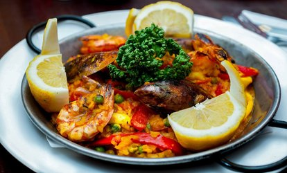 Spanish Starters and Paella or Tapas and Optional Main with Glass or Bottle of Wine for Two at Bar Gansa (Up to 55% Off)