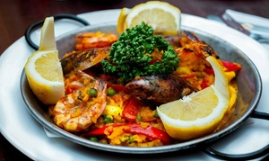 Bar Gansa: Spanish Starters and Paella or Tapas and Optional Main with Glass or Bottle of Wine for Two at Bar Gansa (Up to 55% Off)