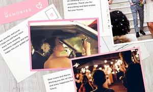 52memories: 26 oder 52 kreative Postkarten als Hochzeitsgeschenk für Brautpaare per App von 52memories (24% sparen*)