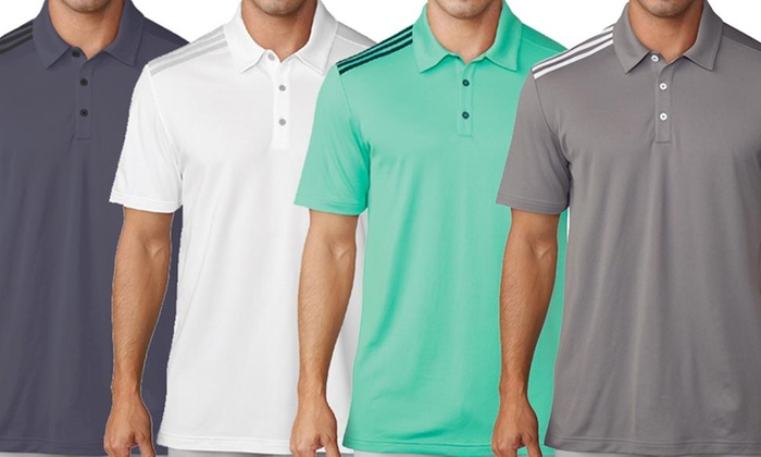 4612ffbac6 Adidas Golf Men's Essential 3-Stripe Golf Polo Shirt | Groupon
