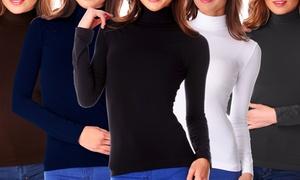 (Mode)  Pack de sous-pulls femme col roulé -10% réduction