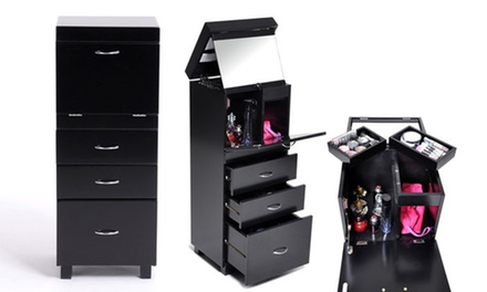 meuble rangement maquillage groupon. Black Bedroom Furniture Sets. Home Design Ideas