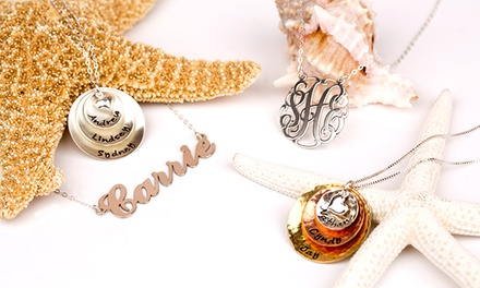 Personalized Jewelry from AJ's Collection (Up to 55% Off). Three Options Available.