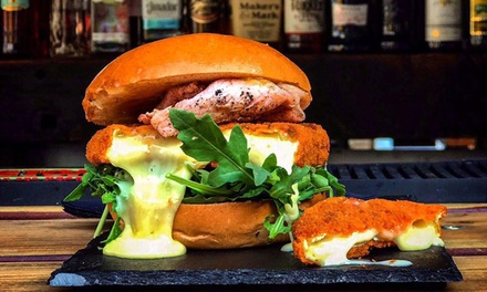 Burger, Chips and Soft Drink or Cocktail for One or Two at King's Head Cocktail Bar and Courtyard (Up to 56% Off)