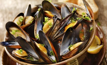 Moules et Frites with a Choice of Sauce for Two or Four at Mharsanta (Up to 54% Off)