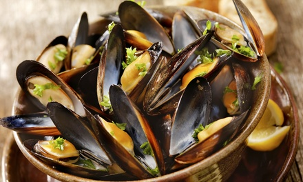 Mussels and a Bottle of Prosecco