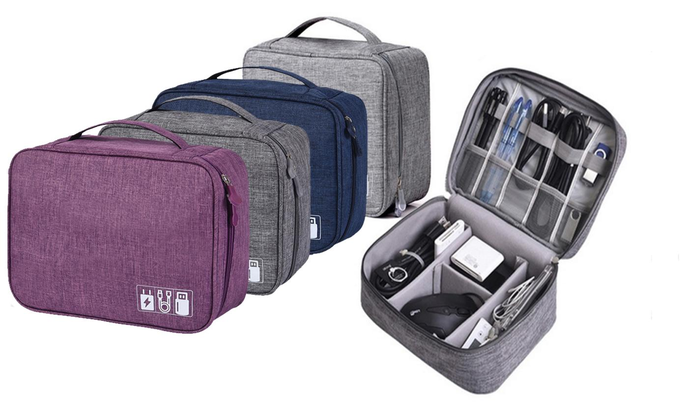 One Or Two Charging Cable Travel Organiser Bags