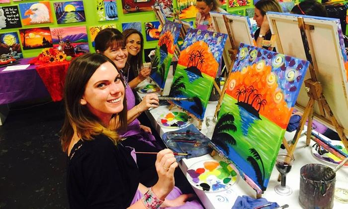 A Painting Fiesta - Coral Springs - A Painting Fiesta - Coral Springs: $27 for a 2.5-Hour BYOB Painting Class at A Painting Fiesta ($45 Value)