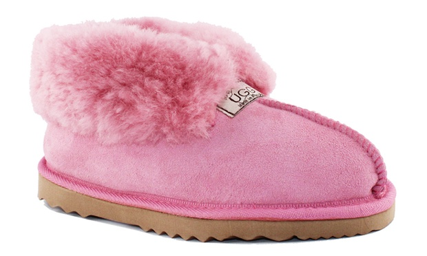 $49 for a Pair of UGG Australia Made Unisex Wool Collar or Classic Ankle Slippers (Dont Pay up to $159.95)