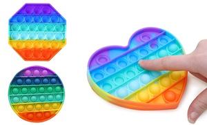 1, 2 ou 3 jouets anti-stress Fidget Pop It arc-en-ciel