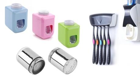 Dispenser, porta spazzolini o doccino LED per rubinetto Be Jewels, disponibili in vari colori e con spedi