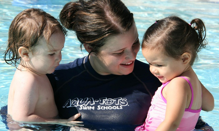Aqua-Tots Swim School - Central Oklahoma City: Four Swim Lessons for One or Two Children at Aqua-Tots Swim School (Up to 53% Off)