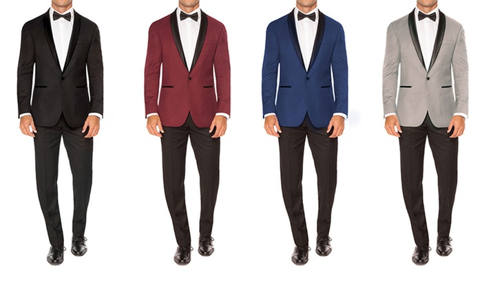 1501e0ecdd7 Jack Luxton Men's Slim-Fit Shawl Lapel Tuxedos (2-Piece)   Groupon