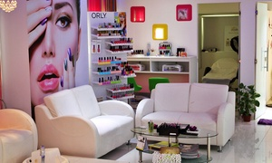 Purple Crush Beauty Spa: Mani and Pedi with Paraffin with Optional Gelish Colour, Cut and Blow-Dry at Purple Crush Beauty Spa (Up to 57% Off)