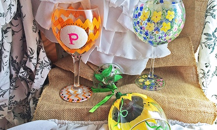 Wine Glass Painting Class for One, Two, or Three at Le Painted Grape (Up to 44% Off)