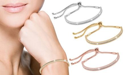 Freundschaftsarmband in Gold, Weißgold oder Roségold, verziert mit Kristallen von Swarovski®