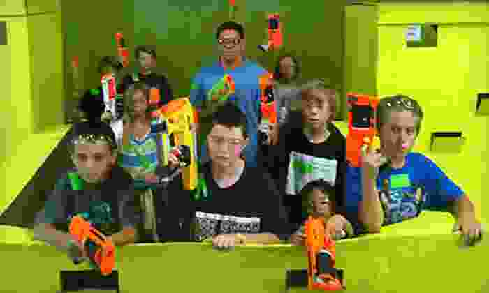 Dart Zone - Southeast Meridian: One-Hour Nerf Tag for 2 or 4 People, or a Nerf-Tag Party Package for Up to 10 at Dart Zone (Up to 54% Off)