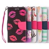 Dreamwireless Trendy Series Flip Wallet Case for iPhone 5/5s/SE