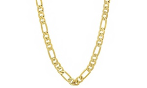 14K Gold Men's 5.6MM Figaro Chain by Moricci