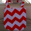 Chevron-Print Vehicle Trash Bag
