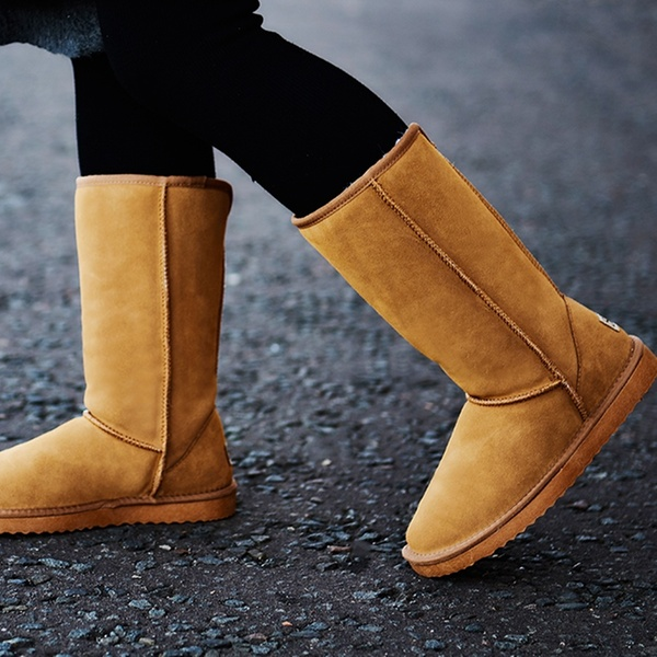 en laine la de et marque cuir Boots en suédé Snowpaw mérinos fourrées fourrées 5jR3q4AL