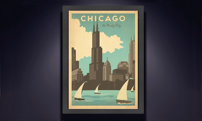 "Framed Vintage-Style Travel Prints: $49 for 20.5""x26.5"" Framed Vintage-Style Print ($105 List Price). 19 Options Available. Free Shipping and Free Returns."
