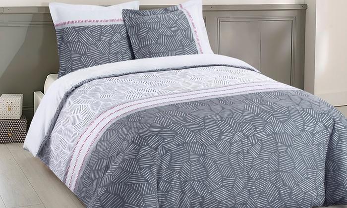 parures de lit imprim es groupon. Black Bedroom Furniture Sets. Home Design Ideas