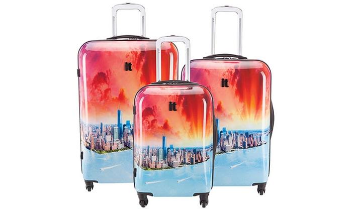 IT Luggage Samara NY Sunrise Hardside Expandable Luggage Set (3 ...