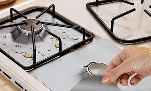 4, 8 ou 12 tapis de protection pour cuisinières à gaz